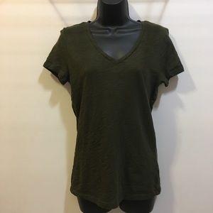 Joe Fresh Olive v-neck burnout t-shirt Small